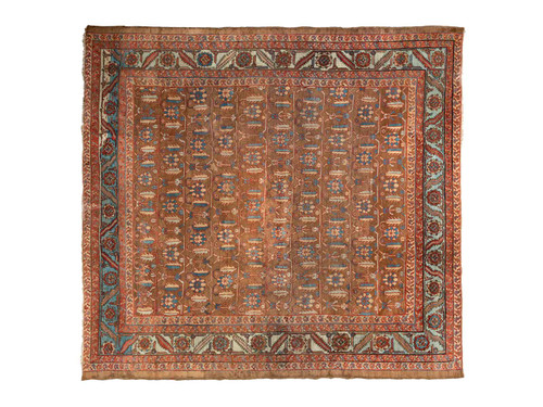 "ANTIQUE BAKHSHAYESH RUG 9'7"" x 10'5"""