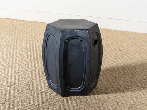 HEXAGONAL STOOL BLACK
