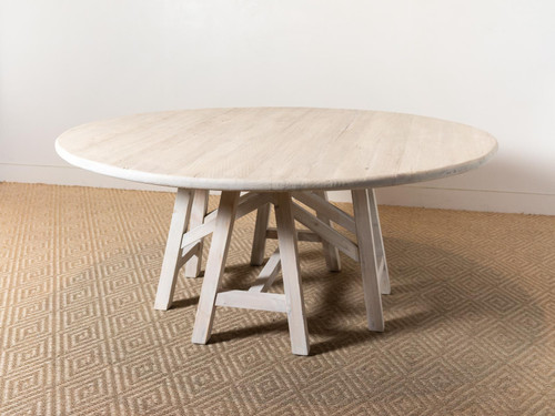 THOMAS ROUND TRESTLE TABLE