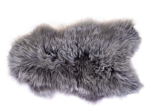 GREY ANGORA WOOL HIDE I 2' x 3'