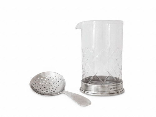 MIXING GLASS & STRAINER SET