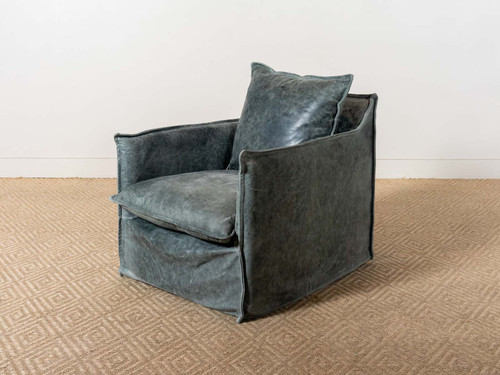 JAGGER LEATHER SWIVEL CHAIR