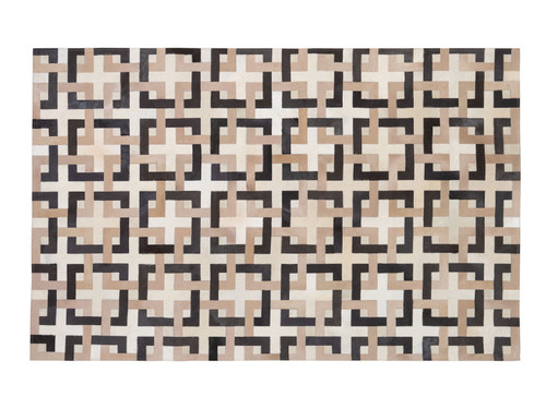 """ALICIA IVORY & NATURAL HIDE RUG 60"""" x 95"""""""
