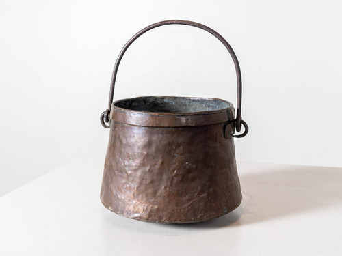 ANTIQUE SMALL BRASS PAIL