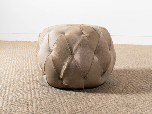BRIARLY LEATHER OTTOMAN
