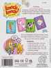 Knock Knock! First Words, back of box buy the Baby Toddler and Preschool card game from Out of Town Games