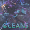 Back of the box of Oceans. Buy the card game from Out of Town Games