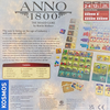 Back of the box of Anno 1800 Game,  Buy the best board Games from Out of Town Games