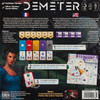 Back of the box of Demeter - Buy flip and write games from Out of Town Games