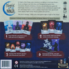 Back of the box of Night of the Ninja. Buy the social deduction board game from Out of Town Games