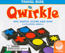Buy Qwirkle Travel Edition and other travel games from Out of Town Games