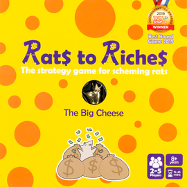 Buy Rats to Riches and other family strategy board games from Out of Town Games