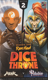 Buy Dice Throne: Season One Rerolled, 2 Monk vs Paladin Board Game from Out of Town Games