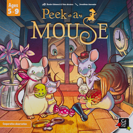 Buy Peek-A-Mouse children's memory board game from Out of Town Games