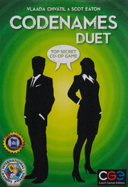 Buy Codenames Duet two player cooperative card game from Out of Town Games