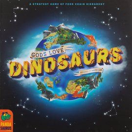 Buy Gods Love Dinosaurs Strategy board game from Out of Town Games