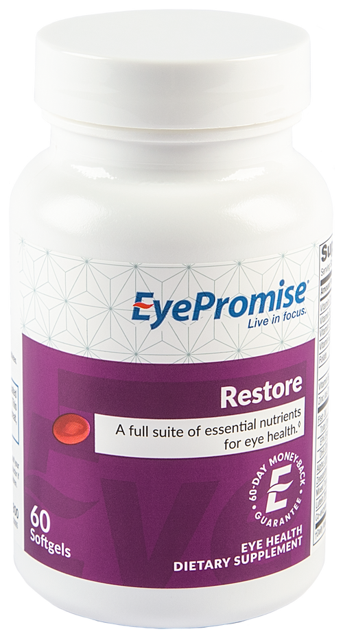 EyePromise Restore is a daily vitamin for eyes of those who have a risk of developing age-related eye health issues.