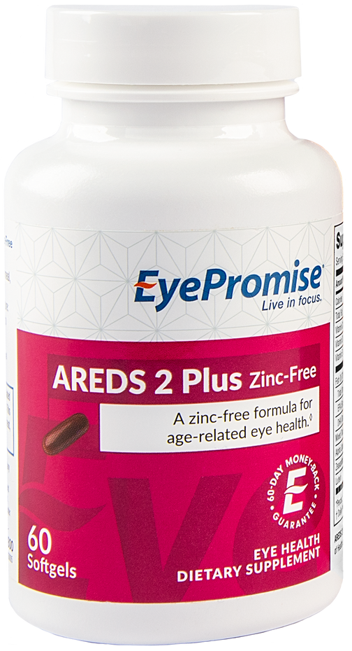 EyePromise AREDS 2 Plus Zinc-Free is an eye vitamin based on the AREDS 2 clinical trial without the potentially harmful zinc.