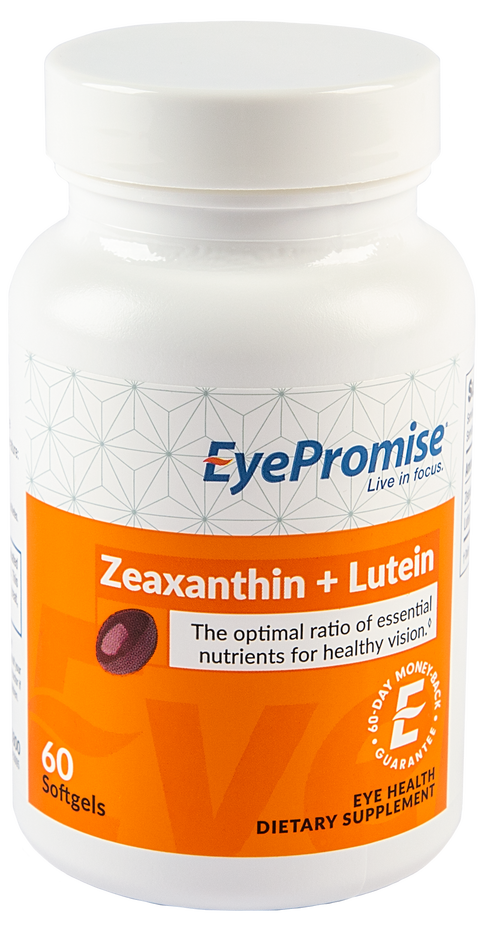 EyePromise Zeaxanthin + Lutein is an eye health nutraceutical that delivers the two antioxidants essential for healthy, lasting vision.