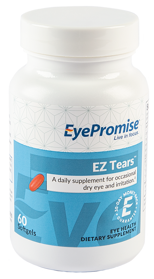 EyePromise EZ Tears is an eye health nutraceutical guaranteed to relieve patients' occasional dry eye in 30 days.