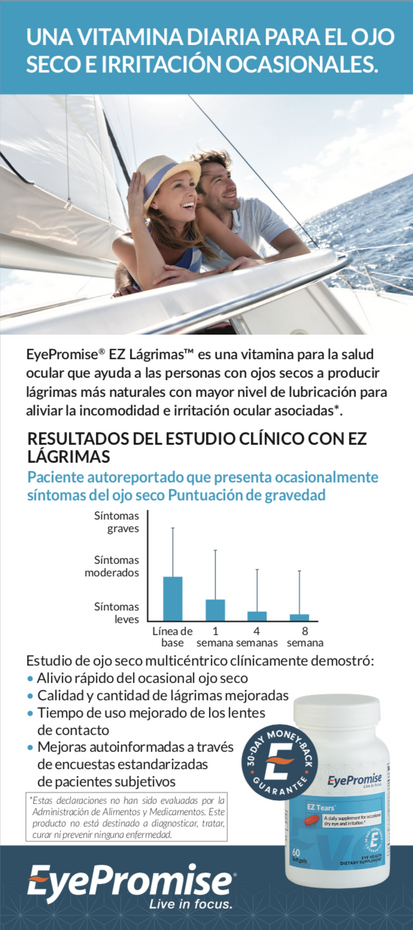 EyePromise EZ Tears Patient Brochure - Spanish