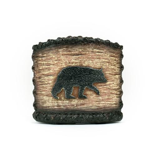 Bear Woodgrain Toothbrush Holder