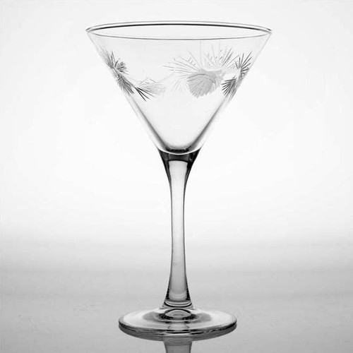 Icy Pine Cone 10oz. Martini Glass