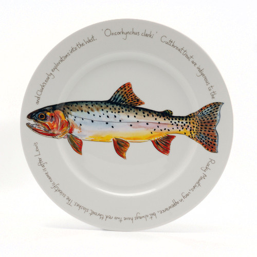 Cutthroat Trout Presentation Plate