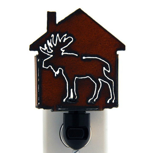 Rustic Metal Nightlight - Moose