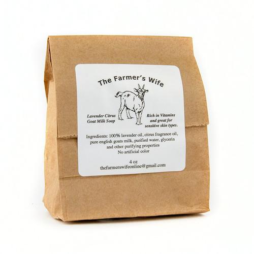 Farmer's Wife Lavender Citrus Goat Milk Soap