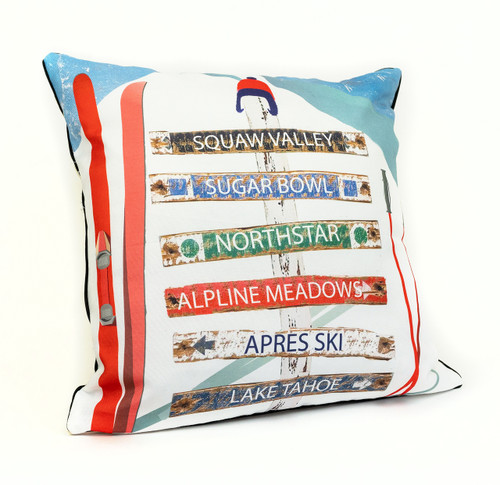 Ski Trail Pillow