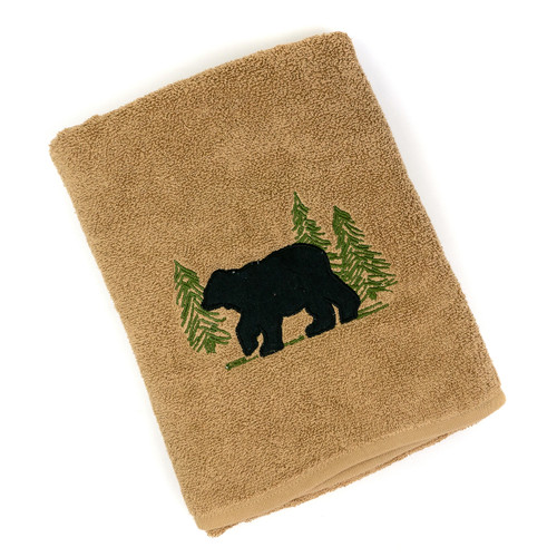 Black Bear Bath Terry Towel