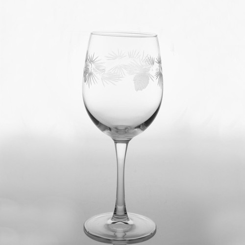 Icy Pine Cone 12oz. Wine Glass