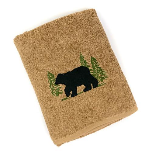 Black Bear Bath Terry Towel