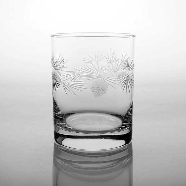 Icy Pine Cone 14oz. Double Old Fashion Glass