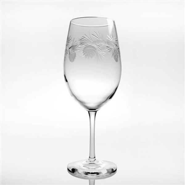Icy Pine Cone AP 18oz. Wine Glass