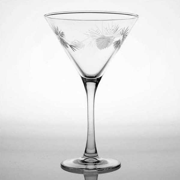 Icy Pine Cone 10oz. Martini Glass