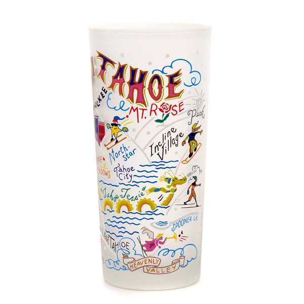 CatStudio Ski Tahoe Drinking Glass