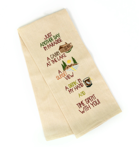 Just Another Day in Paradise Dish Towel