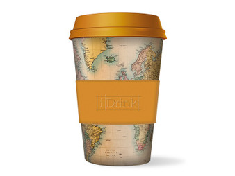 iDrink Bamboo Cup Old Map κούπα 435ml | bookcorner.gr
