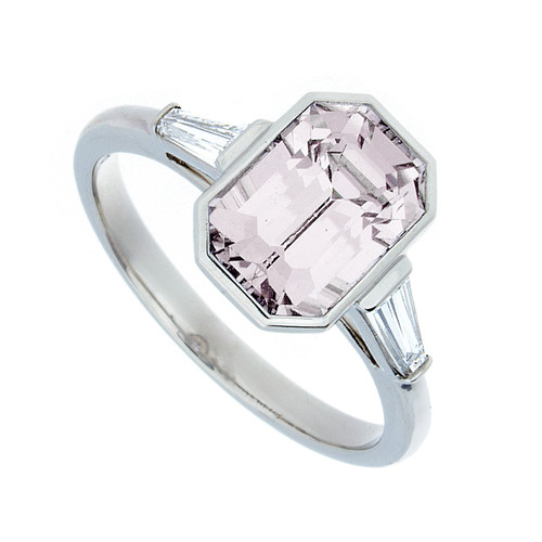 Platinum Pink Spinel ring