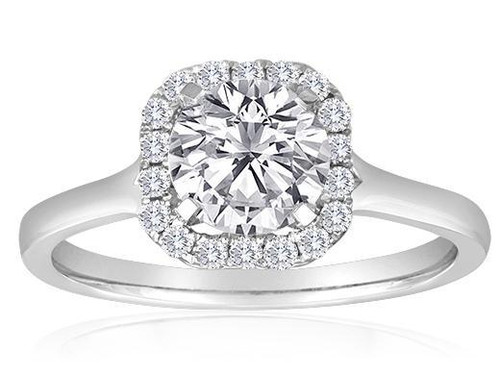Custom Diamond Engagement Ring. This ring can be modified to fit any shape center stone and is custom made per order.