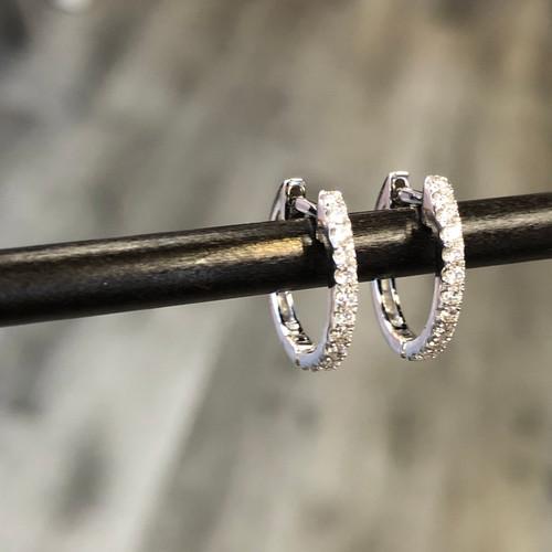 huggie diamond earring