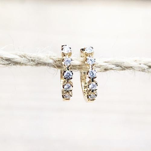 pair of diamond hoops