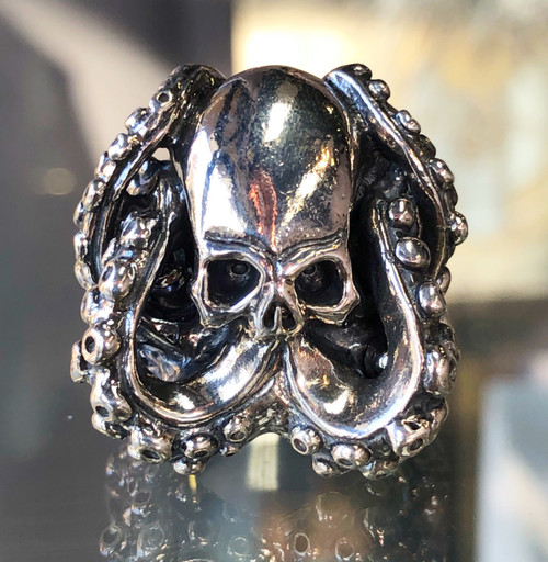 Travis Walker  Double Cross Jewelry Cthulhu ring for men