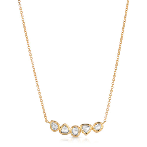 picture of necklace with rose cut diamonds
