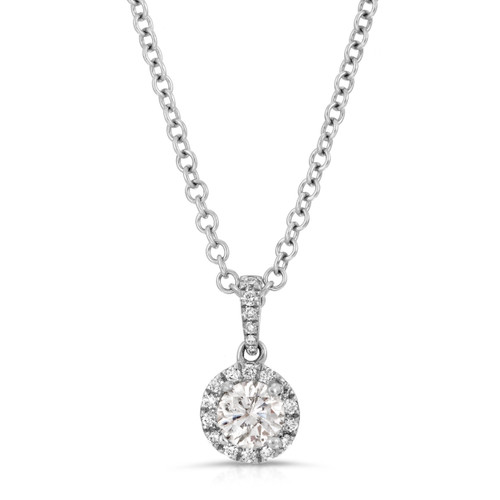 """Classic Rock"" Collection Diamond Halo Pendent"