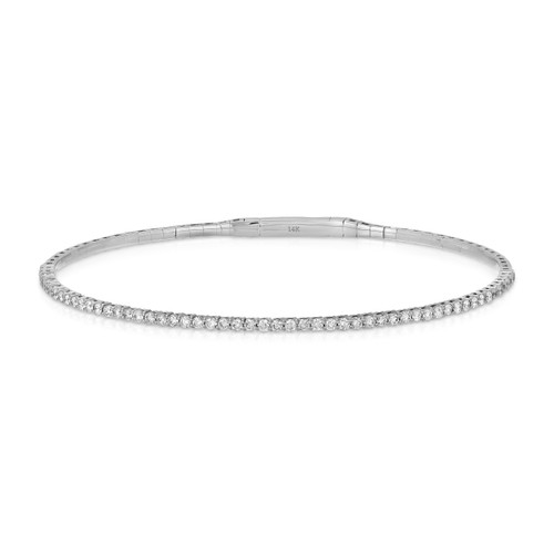 front view of diamond bracelet