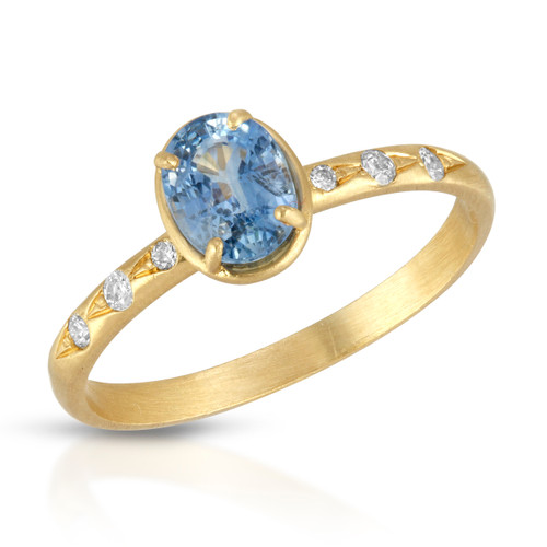 Skylar Blue Sapphire diamond ring