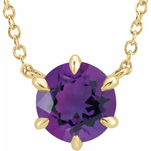 front view of amethyst pendent